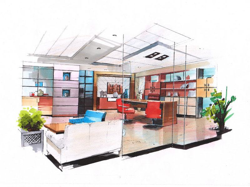 西安大禹手绘-建筑手绘培训-室内设计