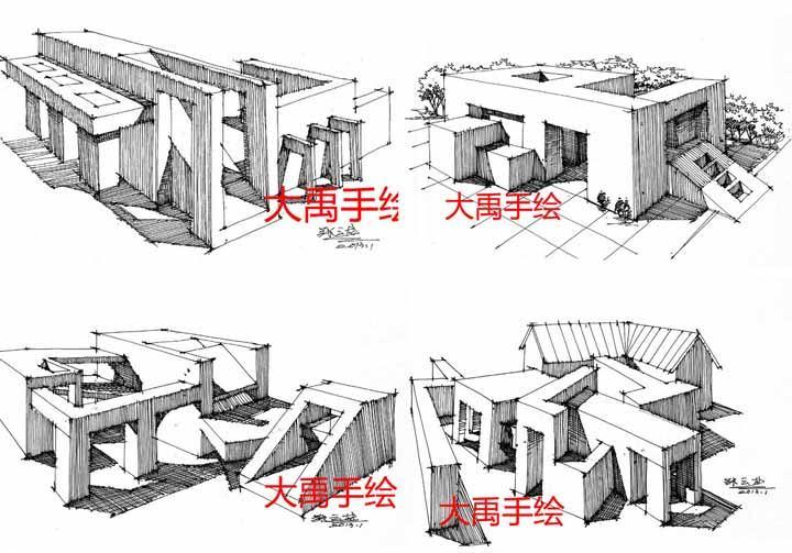 建筑班_【推荐手绘培训】西安手绘培训