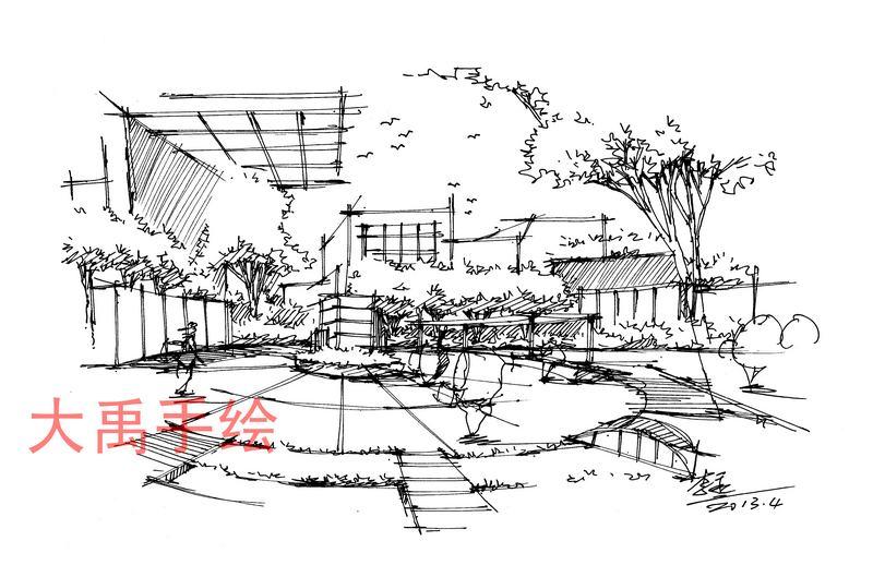 西安手绘培训会——手绘草图的重要性(二)-----大禹李