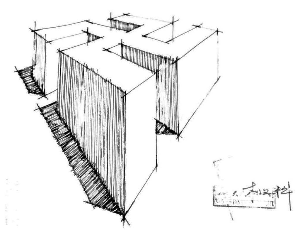 建筑手绘优秀线稿
