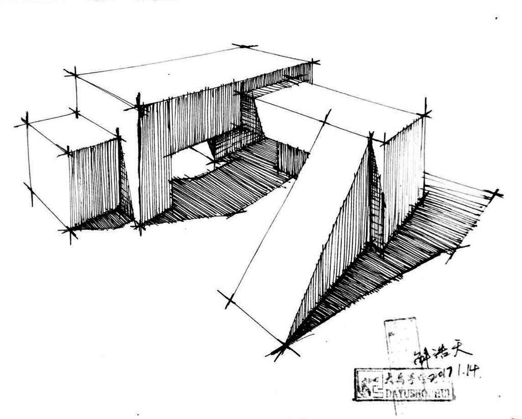 大禹手绘建筑线稿