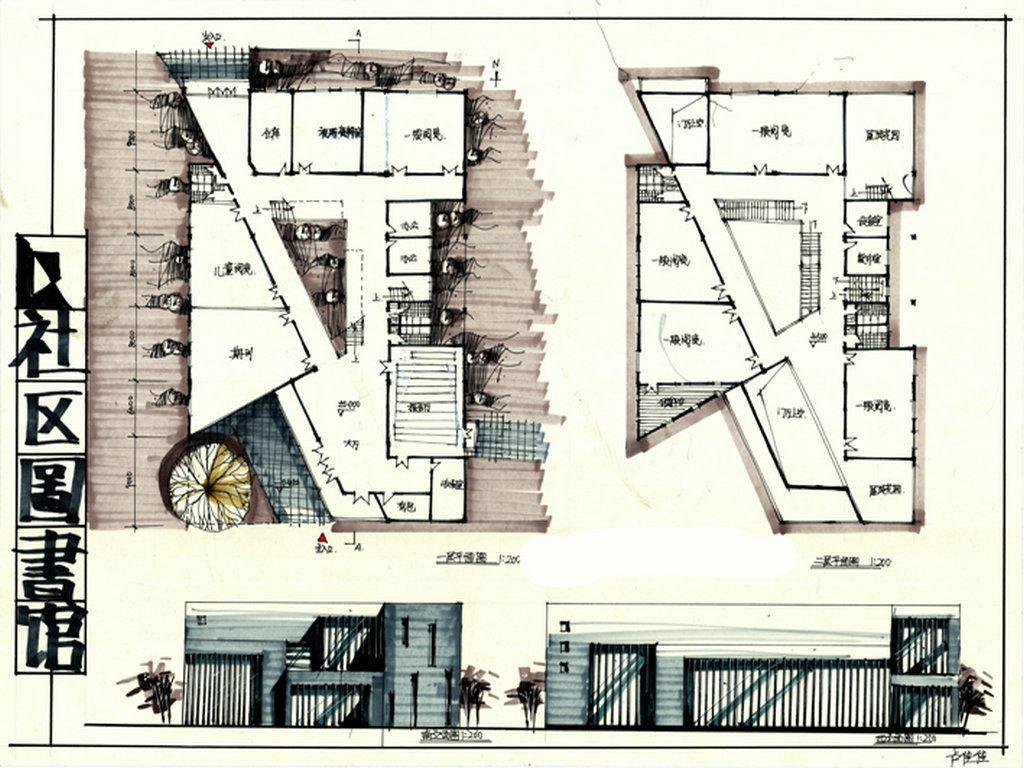 建筑快题别墅设计图